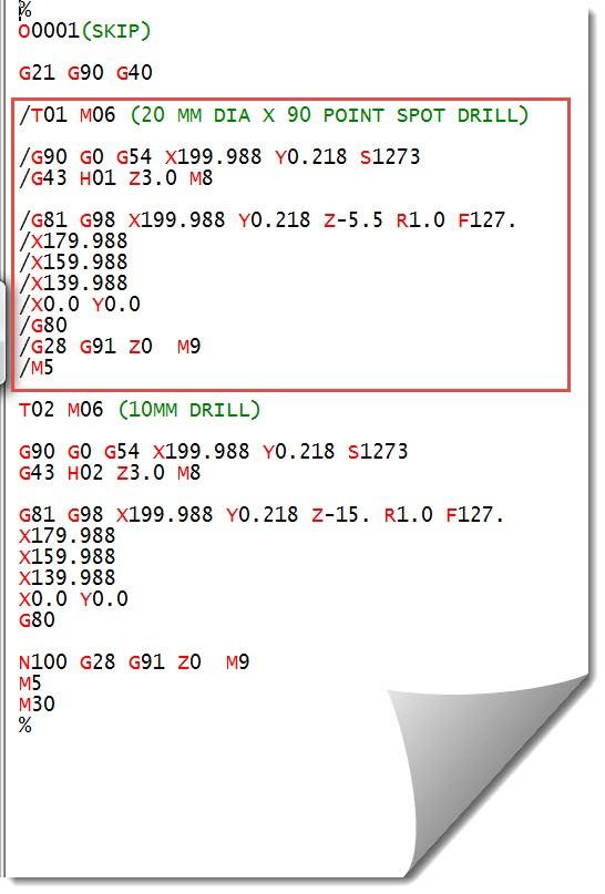 M99 CNC Code