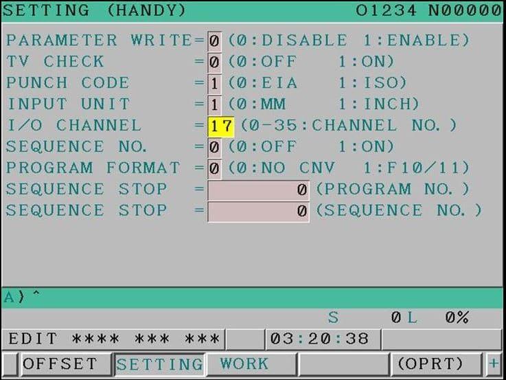 Fanuc Training Fanuc Parameter for USB
