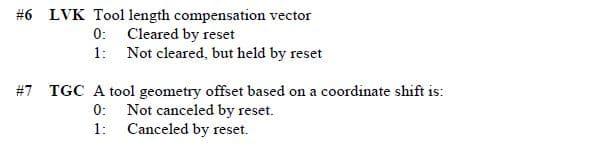 Retain Geometry Fanuc Parameter